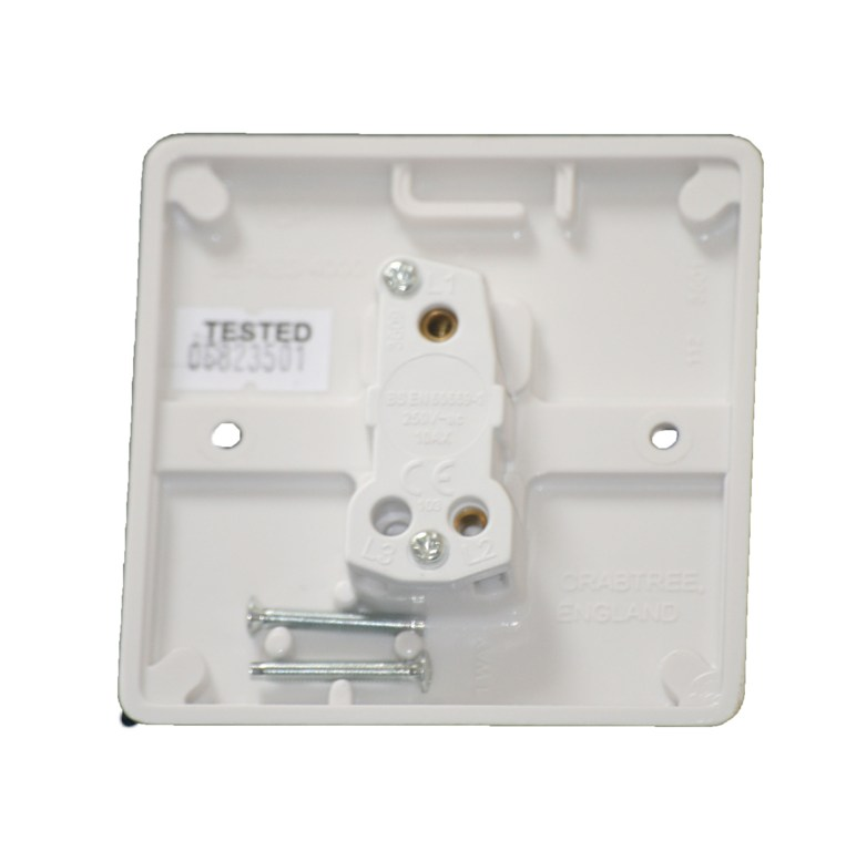 Crabtree 4070 1 Gang 1 Way Light Switch Plate Switch White